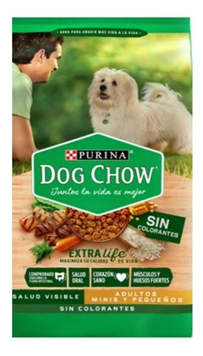 Dog Chow Sin Colorantes Adultos Minis Y Pequeños 22,7 Kg