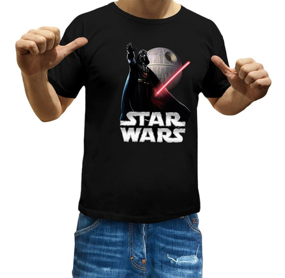 Remeras Star Wars Niños Darth Vader Jedi Sith Trooper R2d2