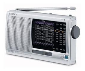 Radio Portatil Sony Icf-sw11 - 12 Faixas Novo + Brinde