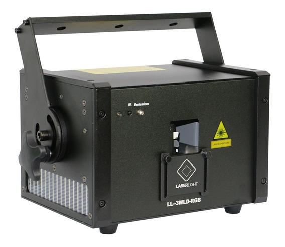 Laser Show Rgb Pro 3w Diodo Puro Potencia Real Grafico, Case