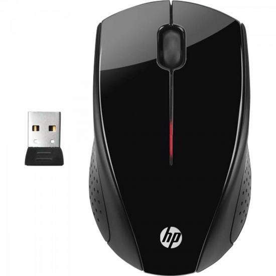 Mouse Sem Fio Usb 1200 Dpi X3000 Preto Hp
