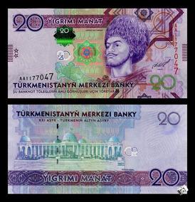 Turcomenistão 20 Manat 2012 P. 32 Fe Cédula - Tchequito