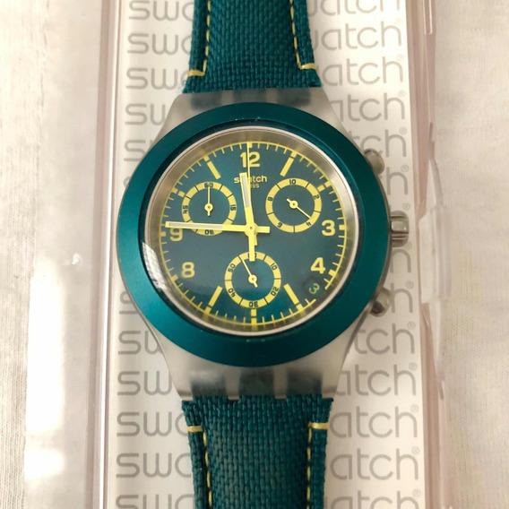 Relógio Swatch Irony Diaphane Verde Novo