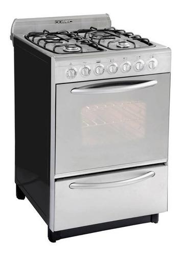 Imagen 1 de 3 de Cocina Multigas Domec Inoxidable 56cm Cxuleav Reflex Digiya