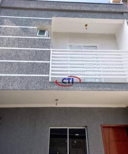 Imagem 1 de 8 de Sobrado À Venda, 55 M² Por R$ 350.000,00 - Vila Curuçá - Santo André/sp - So0606