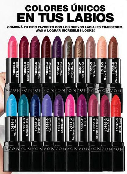 Avon Lápiz Labial Mark Epic Lip Fps 15 Contenido 3,6 Gramos