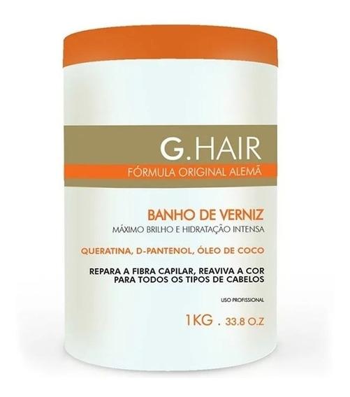 Banho De Verniz G Hair Mascara Hidratacao Brilho Intenso 1kg