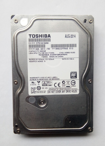 Disco Duro Toshiba 500gb 5400rpm Pc-dvr-cctv--directv