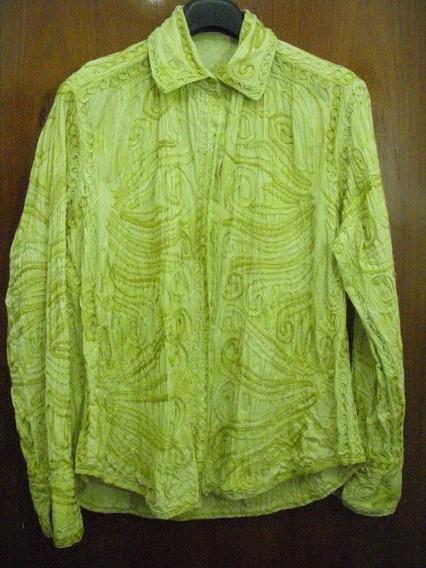 Camisa Mujer Verde Manzana
