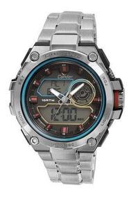 Relógio Condor Masculino Neon Co1161a/3k - Prata