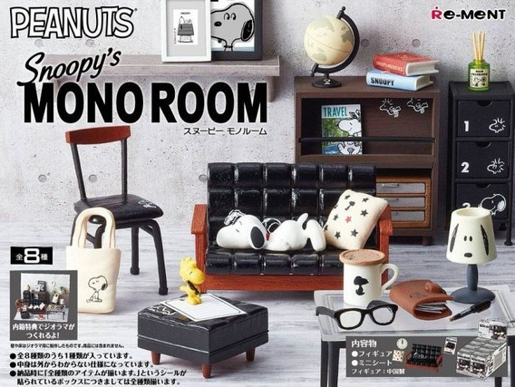 Caixa Lacrada Re-ment Snoopy Mono Room Completo Barbie