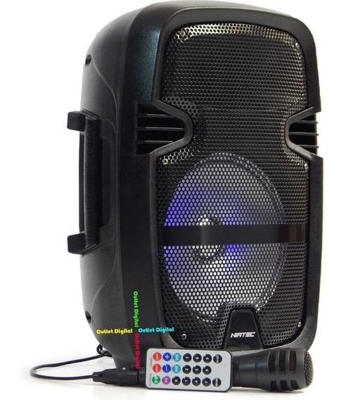 Corneta Amplificada Combo 8 Pulgadas 12w + Microfono + Paral