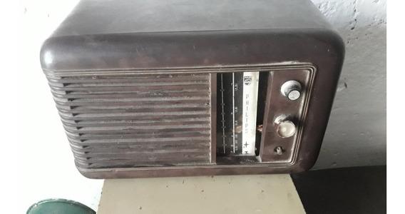 Rádio Antigua Phillips Decoración Vintage Retro Industrial