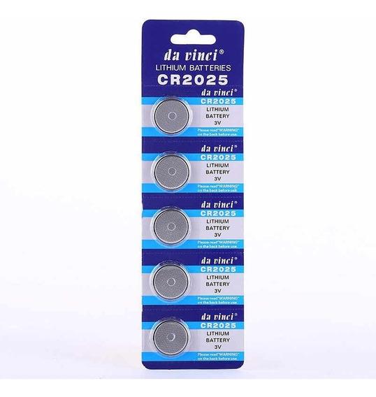 Cartela Bateria De Lithium 3v Cr2025 3v