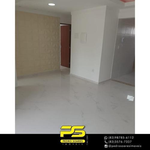 (oportunidade)  Apartamento Com 3 Dormitórios À Venda, 69 M² Por R$ 252.900 - Jardim Cidade Universitária - João Pessoa/pb - Ap4477