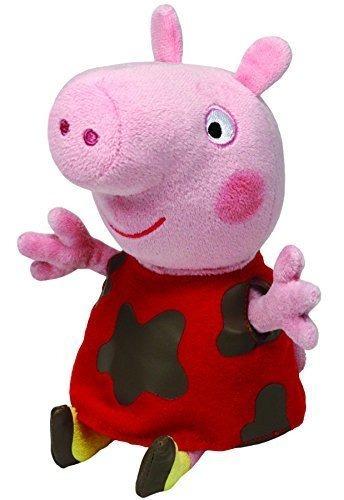 Peppa Pig Pelúcia 20 Cm Peppa Vestido Lama Ty Dtc