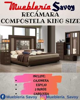 Recámara King Size Compostela Café Oscuro Chocolate