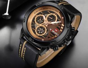 Relógio Masculino Original Excelente Qualidade Navi Force.