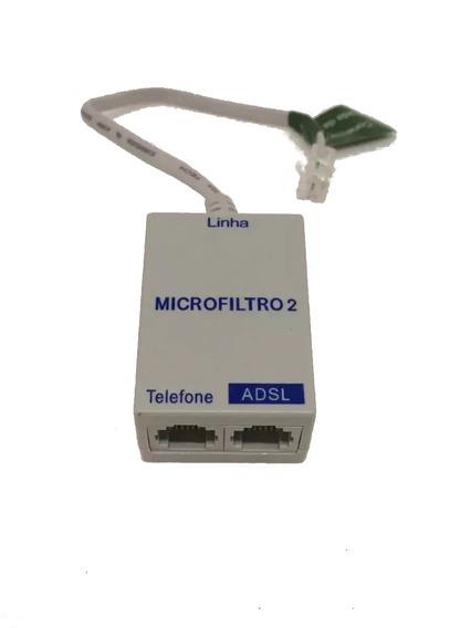 Kit 30 Filtro Adsl Telefone E Modem Internet Duplo