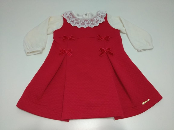 Conjunto Body E Vestido Matelassê Luxo Vermelho - Tamanho G