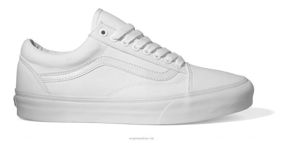 Tenis Vans Old Skool Blanco Monocromo 3hw00 Va0005