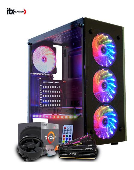 Pc Gamer Amd Ryzen 3 2200g, Radeon Rx 570 4gb, 8gb Ddr4