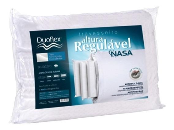 Travesseiro Duoflex Regulável Nasa Visco Rn1100 P/ Fronha 50x70