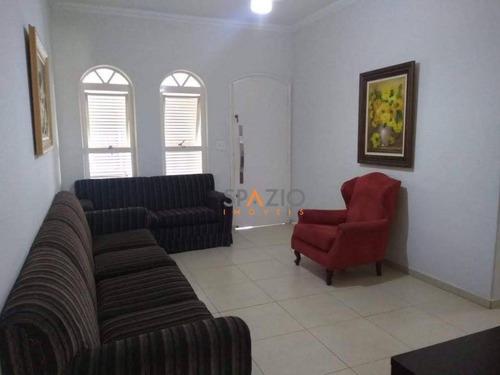 Imagem 1 de 12 de Casa Com 4 Dormitórios À Venda, 128 M² Por R$ 590.000 - Vila Santo Antônio - Rio Claro/sp - Ca0410