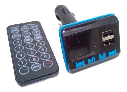 Adaptador Transmisor Fm Para Carro Bluetooth Usb Y Sd 12v