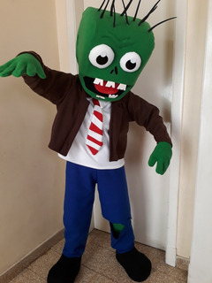 Disfraz Zombie Versus Plantas Halloween Caballito