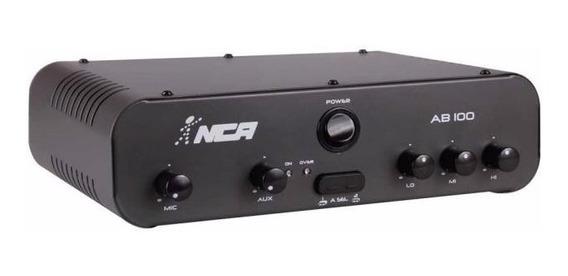 Amplificador Potência Nca Ab100 R4 100wrms Menor Frete Sedex