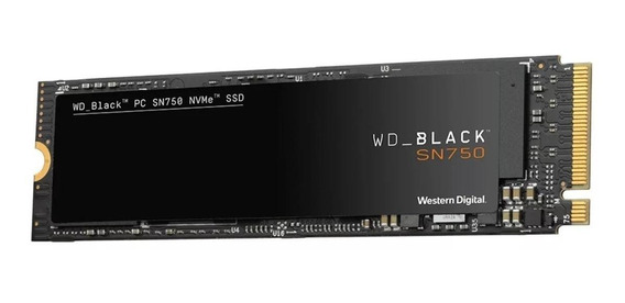 Disco sólido interno Western Digital WD Black SN750 WDS100T3X0C 1TB preto
