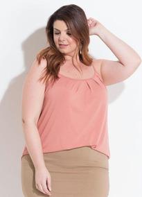 Blusa De Alcinha Plus Size Até O Tamanho 60 Roupas Femininas
