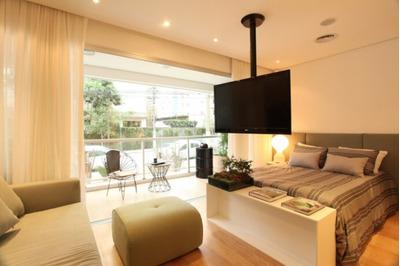 Apartamento Em Brooklin Paulista, São Paulo/sp De 52m² 1 Quartos À Venda Por R$ 583.000,00 - Ap163955