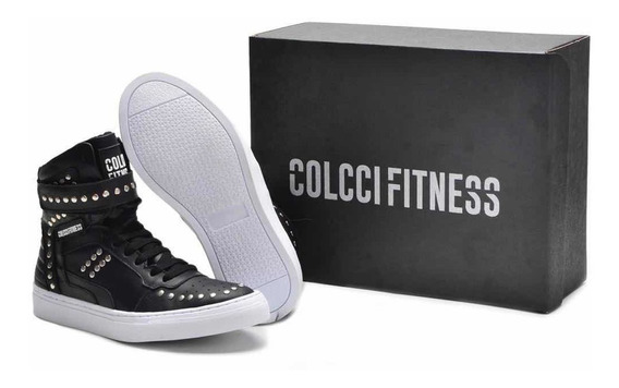 Tênis Sneaker Colcci Fitness Couro - Botinha Treino Hardcore