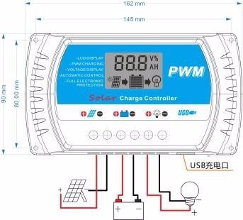 Controlador De Carga 40a Solar Pwm Digital Led Hight Quality