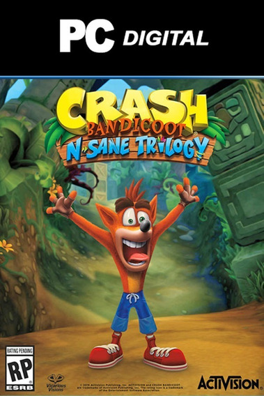 Crash Bandicoot N Sane Trilogy - Pc - Envio Digital