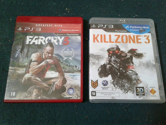 Killzone 3 Fra Cry 3 God Of War 3 Combo Ps3
