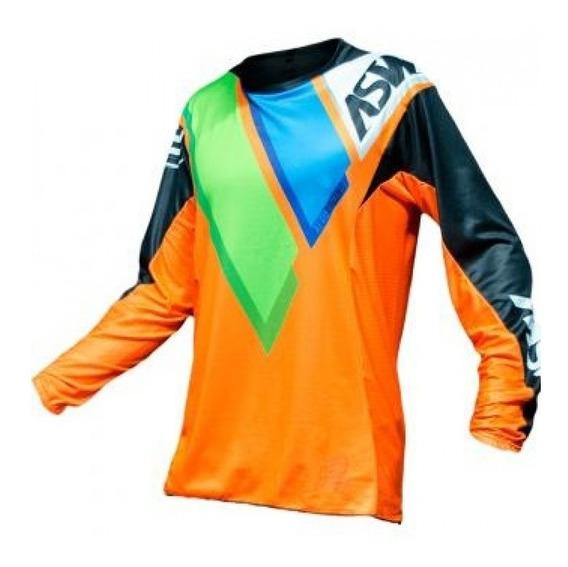 Camisa Asw Podium Quatto 18 Laranja Trilha Motocross