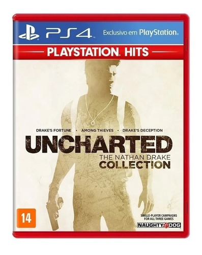 Uncharted Nathan Drake Collection Ps4 Ps5 Mídia Física  Ptbr
