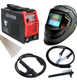 Maquina Solda Inversora 228 Eletrodo Tig Mascara Automatica