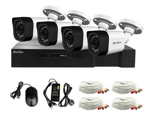 Imagen 1 de 8 de Kit Seguridad Fullhd Xvr 8 Canales 1080p + 4 Cám 2.0mp Loi
