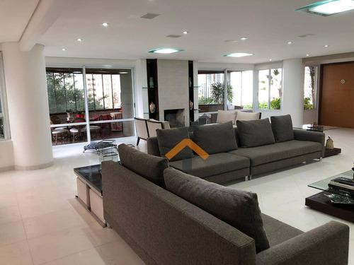 Apartamento Altíssimo Padrão No Bairro Jardim, Com 358m² E 3 Suítes - Santo André - Ap0121
