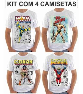 Camisetas, Camisas Heróis Da Tv Marvel, Gibi Hq