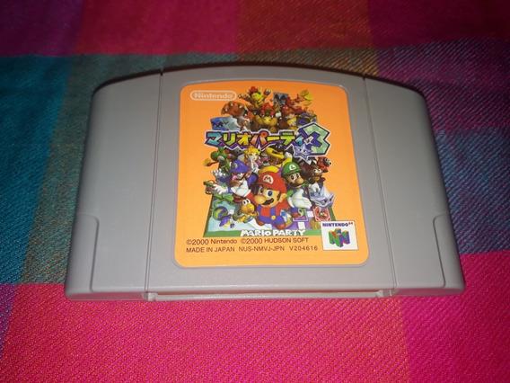 Cartucho Mário Party 3 Original Nintendo 64 Japonês