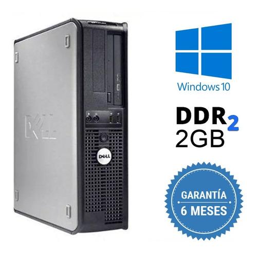 Cpu Dell Mini Optiplex C2d 2gb Hd 250gb Dvd Wifi