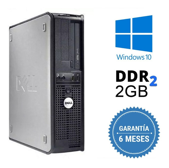Cpu Dell Mini Optiplex C2d 2gb Hd 250gb Dvd Wifi