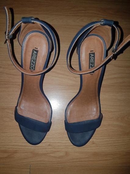 Sandália Arezzo Azul Marinho N° 39 Em Perfeito Estado