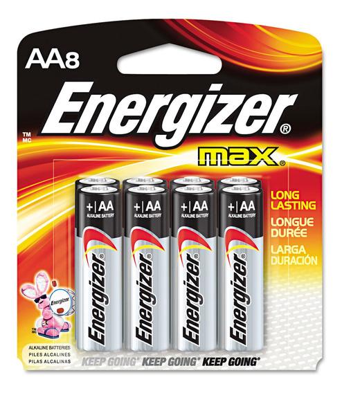 Pilha Energizer Max Power Seal Aa8 Alcalina De 1,5v