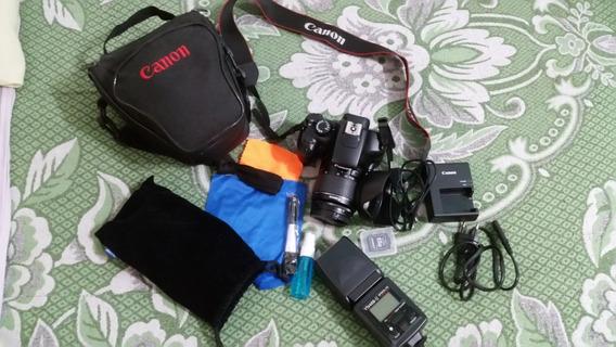 Canon T3 Eos - Unico Dono+nota Fiscal+flash Yongnuo 468 Ii